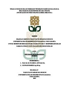 Tinjauan Hukum Islam Terhadap Penerapan Khiyar Dalam Jual Beli Barang Elektronik Secara Online Studi Kasus Di Toko Online Kamera Mbantul Institutional Repository Uin Sunan Kalijaga