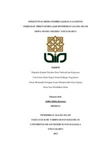 Efektivitas Media Pembelajaran E Learning Terhadap Prestasi Belajar Pendidikan Agama Islam Siswa Di Sma Negeri 1 Yogyakarta Institutional Repository Uin Sunan Kalijaga