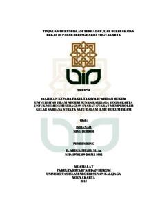 Tinjauan Hukum Islam Terhadap Jual Beli Pakaian Bekas Di Pasar Beringharjo Yogyakarta Institutional Repository Uin Sunan Kalijaga