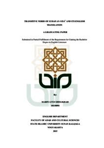 TRANSITIVE VERBS OF SURAH AN-NISA' AND ITS ENGLISH TRANSLATION