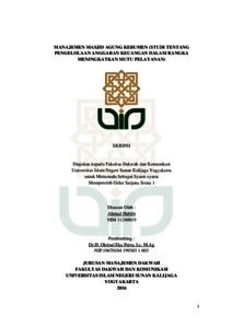 Manajemen Masjid Agung Kebumen Studi Tentang Pengelolaan Anggaran
