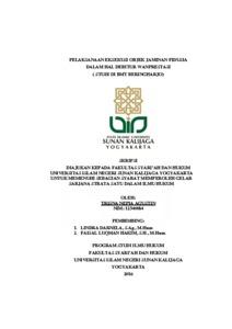 Pelaksanaan Eksekusi Objek Jaminan Fidusia Dalam Hal Debitur Wanprestasi Studi Di Bmt Beringharjo Institutional Repository Uin Sunan Kalijaga