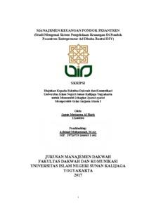 Manajemen Keuangan Pondok Pesantren Studi Mengenai Sistem