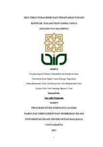Multikulturalisme Dan Penawaran Solusi Konflik Dalam Film Tanda Tanya Analisis Wacana Kritis Institutional Repository Uin Sunan Kalijaga