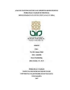 EFISIENSI PERBANKAN SYARIAH PDF