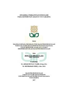 Dinamika Perkawinan Endogami Pada Keturunan Arab Di Yogyakarta Institutional Repository Uin Sunan Kalijaga
