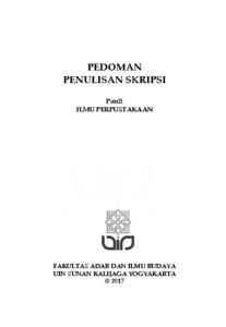 Pedoman Penulisan Skripsi Prodi Ilmu Perpustakaan Institutional Repository Uin Sunan Kalijaga