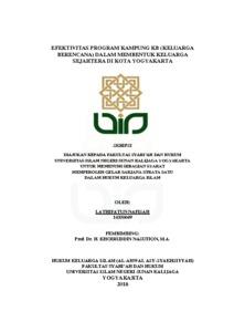 Efektivitas Program Kampung Kb Keluarga Berencana Dalam Membentuk Keluarga Sejahtera Di Kota Yogyakarta Institutional Repository Uin Sunan Kalijaga