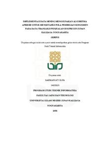 Implementasi Data Mining Menggunakan Algoritma Apriori Untuk Mengetahui Pola Pembelian Konsumen Pada Data Transaksi Penjualan Di Kpri Uin Sunan Kalijaga Yogyakarta Institutional Repository Uin Sunan Kalijaga