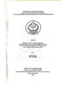 Penafsiran Achmad Chodjim Atas Surat Al Falaq Dalam Buku Al