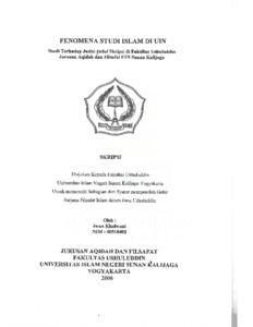 Fenomena Studi Islam Di Uin Studi Terhadap Judul Judul Skripsi Di Fakultas Ushuluddin Jurusan Aqidah Dan Filsafat Uin Sunan Kalijaga Institutional Repository Uin Sunan Kalijaga