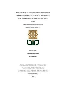 Rancang Bangun Sistem Otomasi Administrasi Skripsi Dan Munaqosyah Dengan Pendekatan Pair Programming Di Uin Sunan Kalijaga Institutional Repository Uin Sunan Kalijaga