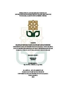 Perkawinan Antar Kerabat Sesusuan Studi Kasus Di Kantor Urusan Agama Kecamatan Wanasaba Kabupaten Lombok Timur Institutional Repository